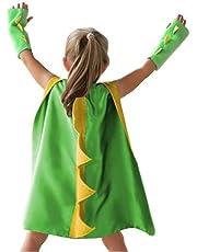 Kids Halloween Costume Dinosaur Dragon Cape Festival Fancy Dress Christmas Party Cloak Wizard Robe Suit
