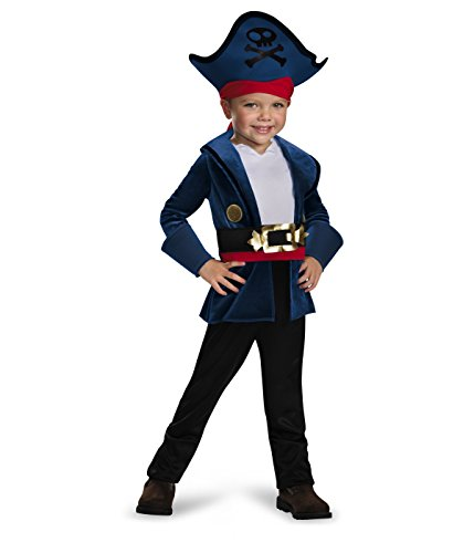 [Disguise 86382M Captain Jake Classic Costume, Medium (3T-4T)] (Pirate Theme Party Costumes)