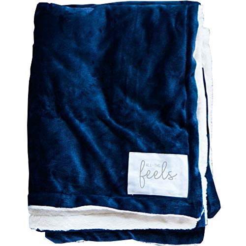 Price comparison product image All the Feels | Extra Cozy Reversible Blanket | Super Soft | Machine Washable | Full/Queen | Color- Mood Indigo | You Buy One-We Give One