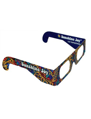 Sunshine Joy 3D Glasses - 5 PACK - Card Stock - Amazing 3-D Effects on all 3-D Reactive Images - For Indoor Use Only