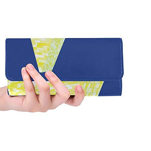 Unique Custom Triangular Tower Layout Women Trifold Wallet Long Purse Credit Card Holder Case - Billfold Capital