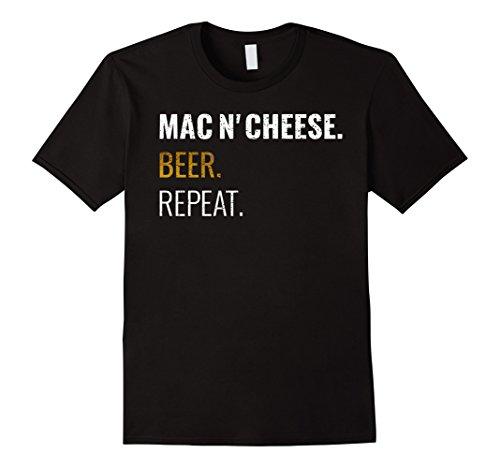 Mens Mac and Cheese Beer Repeat Shirt, Distressed Novelty...