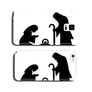 Holy Family, Joseph, Mary, Jesus, black, vector cell phone cover case Samsung S5