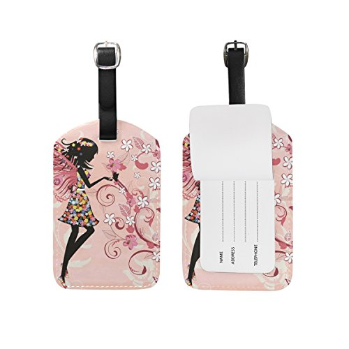 JSTEL Forest Fairy Luggage Tags Suitcase Labels Travel ID Identifier Privacy Cover