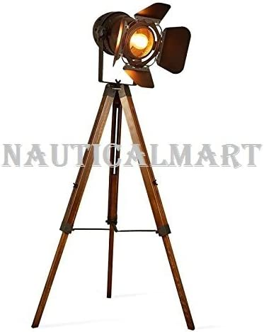Nautical Designer Studio Floor//Desk Lamp Vintage Home Decor Light