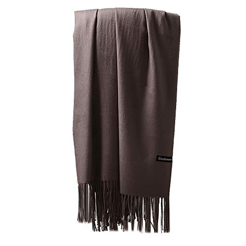 Wensltd Gift! Cashmere Scarf Bohemia Women Lady Tassels Shawl Voile Rectangle Scarf Scarves (Gray)