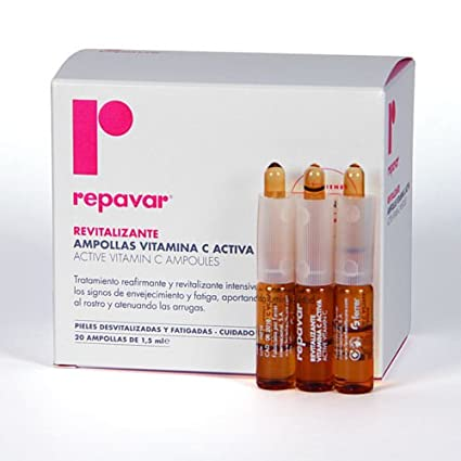 Repavar Active Vitamin C Ampoules 1.5ml Ampollas
