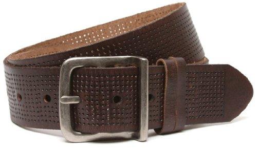 Bill Adler Men's Wide Perforated Belt, Brown, 32
