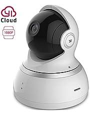 YI Caméra Surveillance Caméra IP Caméra Sécurité Caméra Dôme 1080p Full HD Audio Bidirectionnel Détection de Mouvement Vision Nocturne Service Cloud Disponible - Blanche