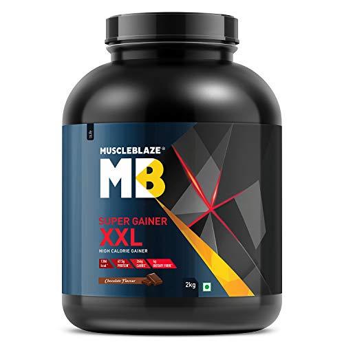MuscleBlaze Super Gainer XXL, For Muscle Mass Gain  Chocolate, 2 kg / 4.4 lb, 20 Servings