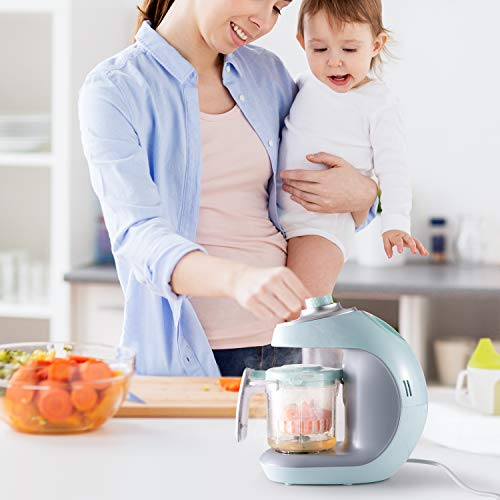 41LtIZgz8lL - Maxkare Baby Food Maker 8 In 1 Meal Station For Toddlers With Steam,Blend,Juice,Warm,Puree,Chop,Disinfect,Clean Function, 20 Oz Tritan Stirring Cup,Built In Timer,Steam Cooker And Blender Processor