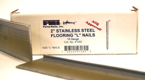 Porta-Nails 47080 16 Gauge 2-Inch Stainless Steel Floorin...