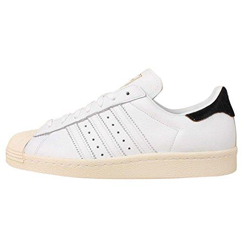 Adidas Women's Superstar 80s W, WHITE/BLACK, 8 US