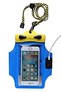 Dry Bag TPU Waterproof Armband Case Bag Including Headset For Apple iPhone SE (3.9 x 6.3 Y1016R)