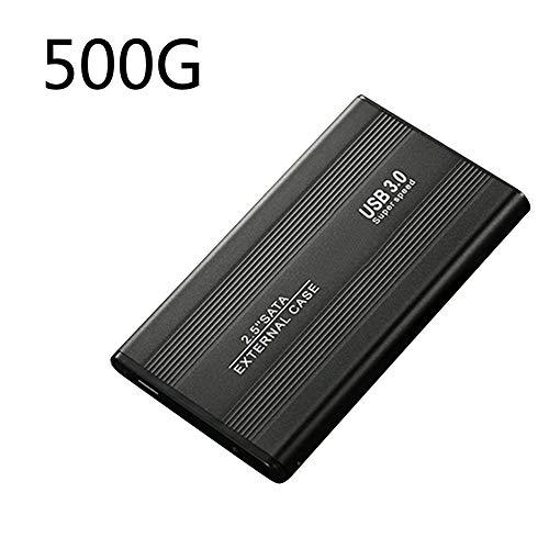 Hard Drive 2.5inch B3.0 SATA3.0 For PC External Desktop 500 1TB 2TB Laptop Storage Portable gh Speed Accessories Disk Metal Mobile(500GBBlack)
