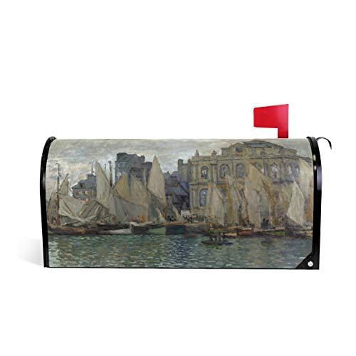 Magnetic Mailbox Cover Monet Art The Havre Museum Lake Sailboat Mail Wraps Cover Letter Post Box 20.8