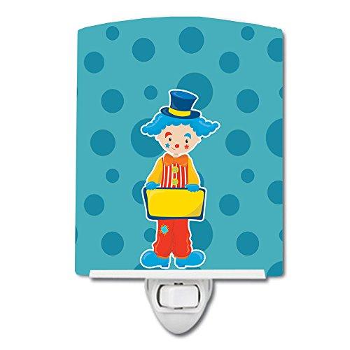 Caroline's Treasures Circus Ceramic Night Light, Clown #2, Blue, 6