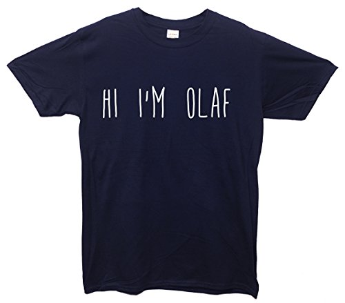 Hi I'm Olaf T-Shirt - Navy - Medium (96cm-102cm)