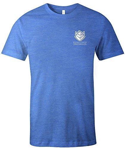 Louis University Baseball - NCAA St. Louis University Billikens Simple Mascot Short Sleeve Triblend T-Shirt, Large,Royal