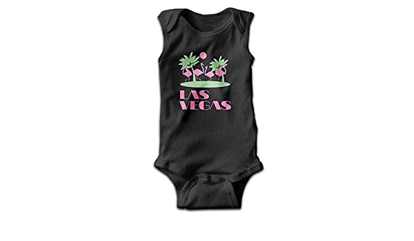 Bgio Baby Body Bebé Pelele de Las Vegas de Flamencos Sin Mangas Playsuit Trajes Negro - 3 Meses: Amazon.es: Ropa y accesorios