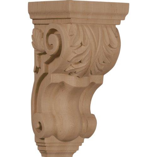Ekena Millwork CORW04X05X10TAGM 4 1/2-Inch W x 5-Inch D x 10-Inch H Medium Traditional Acanthus Corbel, Mahogany