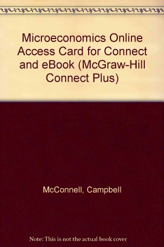 Connect Plus Access Card for Microeconomics (McGraw-Hill Connect Plus)