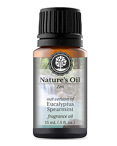 (Eucalyptus Spearmint Fragrance Oil (15ml) For Diffusers, Soap Making, Candles, Lotion, Home Scents, Linen Spray, Bath Bombs,)