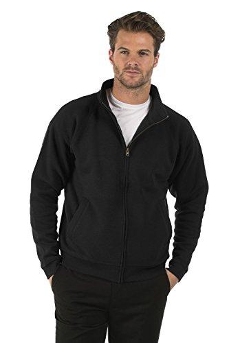 Classic Full Jacket Cremallera Negro Con Sweat Algodón Sudadera Señoras Zip Bruntwood Clásico Poliéster y Chaqueta Hombres 280GSM Completa RwB0qyYxf