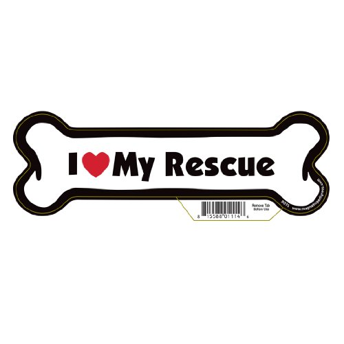 Rescue Dog Bone Magnet
