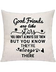 اغطية الوسائد واكياس مخدة لافضل الاصدقاء او الاخوات هدايا اعياد الميلاد مزينة بعبارة Good Friends are Like Stars You Don't Always See Them But You Know They're Always There من فافسو