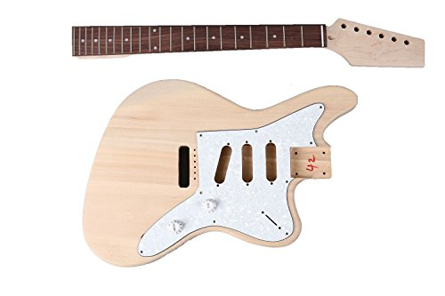 DIY''Build Your Own'' Unfinished SOLID JazzMaster Electric Guitar Kit by RAS