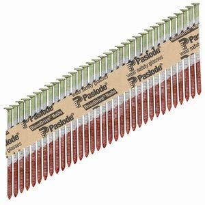 Paslode - 650385 Round Head 3-Inch by .120 by 30 Degree Paper Tape Collated Ring Shank Hot Dipped Galvanized Framing Nails for Framing Nailers (2,000 per Box)