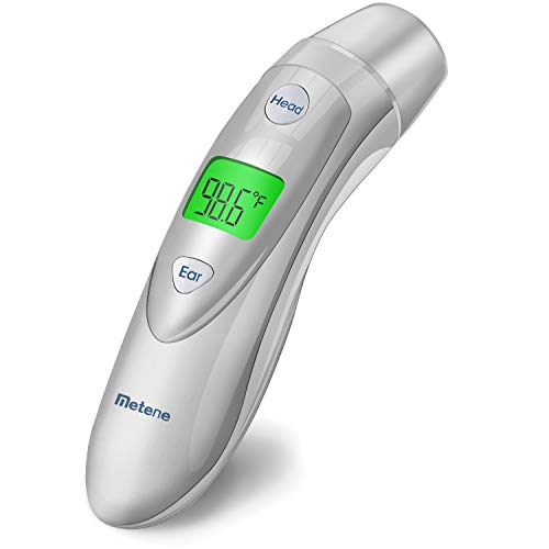 Metene Medical Forehead and Ear Thermometer,Infrared Digital Thermometer Suitable for Baby, Infant, Toddler and Adults from Metene