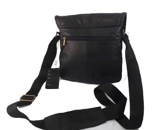 Borsello messenger in pelle uomo -Vero Artigianato italiano -L26xH27xP4 cm MOD : JOIL Black