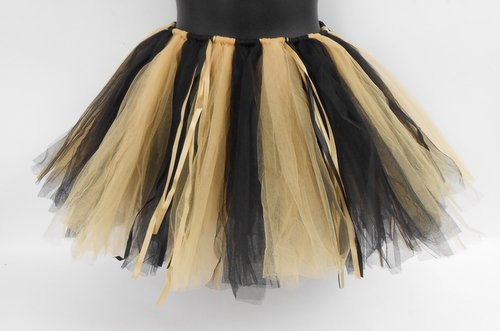 BLACK AND GOLD 90 PANEL TUTU (EACH) (New Orleans Costume)