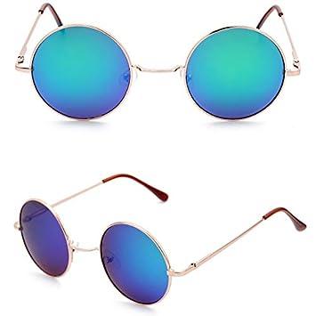 VINSHINE Color Caramelo Gafas De Sol Redondas Moda para ...