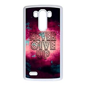 LG G3 Cell Phone Case White quotes parallax never give up VIU911998