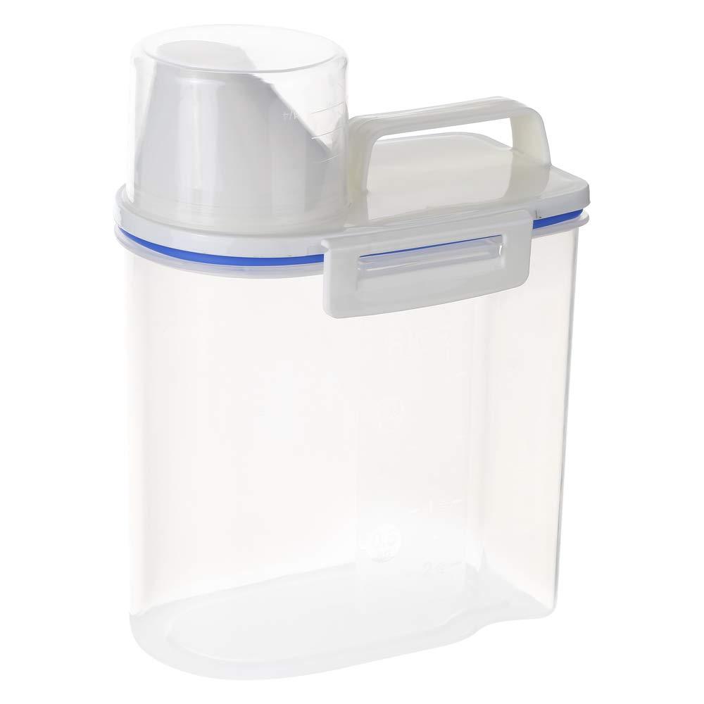 1.5L Galapara contenitore per cereali in plastica 2L contenitore per cereali con beccuccio e dosatore in plastica trasparente per alimenti grano di riso per cereali farina d avena zucchero titanio