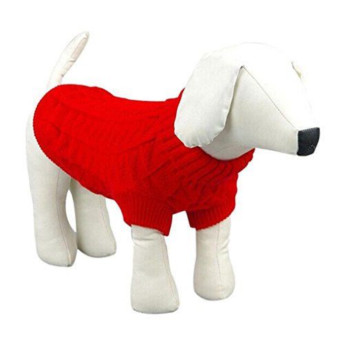 Top Dog Halloween Costumes 2016 (Pet Clothes,Haoricu 2016 Winter Autumn Knit Sweater Pet Dog Sweater Dog Costume Small Dog Cat Pet Clothing Puppy Apparel for Dogs (XXL, Red))