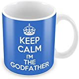 BLUE KEEP CALM I'm The Godfather Mug Coffee Cup Gift Idea present