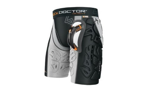 Shock Doctor Velocity MMA 6 Pad Short Extra Small Black/Gray by Shock Doctor