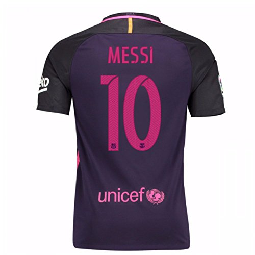 2016-17 Barcelona Away Shirt (Messi 10) - Kids (Official Replica Jersey Away Youth)