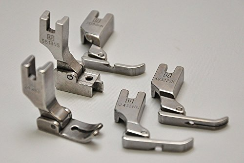 Presser Feet for Industrial Sewing Machines (5 PACK) FIRST QUALITY, MADE IN TAIWAN. Fits Juki DDL-8700, DDL-555, DDL-5550, DDL-8500, Includes 24983 , 12435HN, 31358HN, S518, 40322SH (Machine First Sewing)
