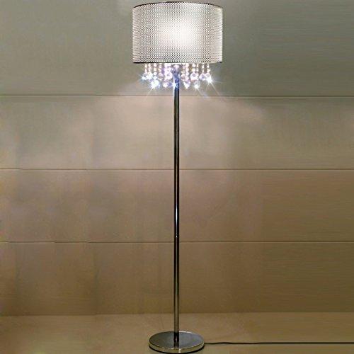 Modern minimalist crystal pendant living room floor lamp chrome bedroom den Cloth Lighting - Reflects Chrome Table Lamp