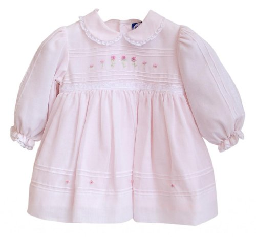 Carriage Boutique Girl's Lace And Embroidered Cotton Dress 9 Months - Lace Carriage
