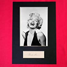 MARILYN MONROE Signed Signed A4 Mounted Print