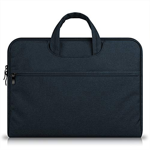 15.6 Laptop Case Black,MeiLiio Laptop Bag 15.6 inch/Protective Messenger/Business Zipper Briefcase with Accessories Pocket for Apple MacBook Air/Pro 15.6 inch All Laptop,Black by MeiLiio