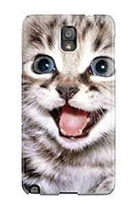 Hot New Happy Cat Case Cover For Galaxy Note 3 With Perfect Design