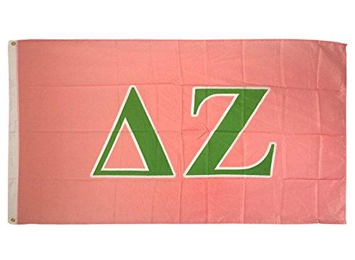 Delta Zeta Letter Sorority Flag Greek Letter Use as a Banner Large 3 x 5 Feet Sign Decor dz