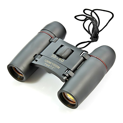 PLLP Binoculars Day and Night with 30X60 Times Telescope High - Definition Outdoor Travel Camping,Black by PLLP